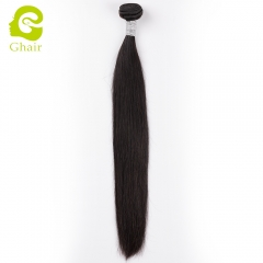 HOT SALE | GHAIR Brazilian virgin human hair weave straight bundle 1B# natural black color No shedding
