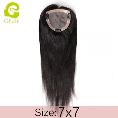 Ghairs Indian woman toupee size 7*7