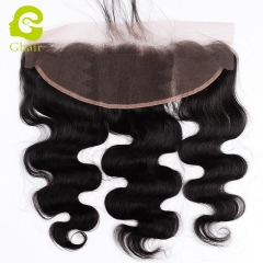 GHAIR 100% virgin human hair body wave 1B# 13*4 lace frontal with natural hairline