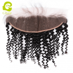 GHAIR Brazilian virgin human hair deep curly 1B# 13*4 frontal for black women