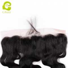 GHAIR Brazilian virgin human hair body wave 1B# 13*4 lace frontal with natural hairline