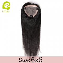 Ghairs Indian woman toupee size 6*6
