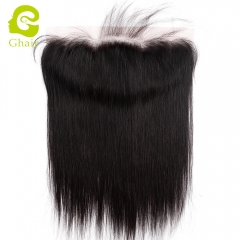 GHAIR 100% virgin human hair straight 1B# 13*4 lace frontal with baby hair