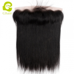 GHAIR 100% virgin human hair straight 1B# 13*2 lace frontal with baby hair