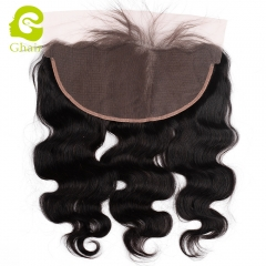 GHAIR Brazilian virgin human hair body wave 1B# 13*6 lace frontal with baby hair