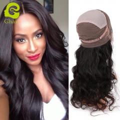 Ghairs Brazilian human hair full lace wig body wave