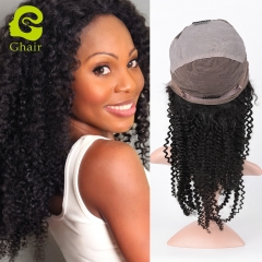 GHAIR Brazilian human hair full lace wig kinky curly