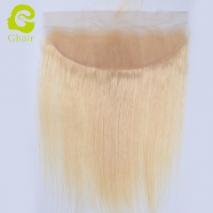 GHAIR Brazilian virgin human hair straight 613# 13*4 lace frontal golden blonde