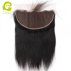 GHAIR Brazilian virgin human hair straight 1B# 13*6 lace frontal with baby hair