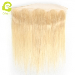 GHAIR 100% virgin human hair straight 613# 13*4 lace frontal golden blonde