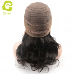 GHAIR pre-plucked 360 lace frontal wig body wave virgin human hair glueless adjustable elastic band wig with baby hair