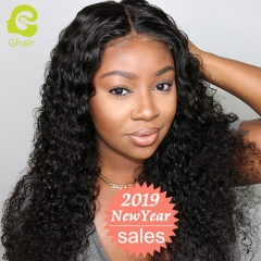 GHAIR Lace front wig pre-plucked deep wave virgin human hair glueless adjustable elastic band wig with baby hair