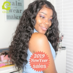 GHAIR Lace front wig pre-plucked loose deep virgin human hair glueless adjustable elastic band wig with baby hair