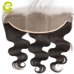 GHAIR 100% virgin human hair body wave 1B# 13*4 transparent lace frontal with baby hair