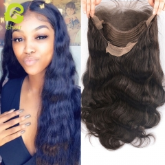 GHAIR Lace front wig pre-plucked body wave virgin human hair glueless adjustable elastic band wig with baby hair