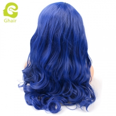 Ghair Synthetic Hair 180% density Blue# Natural straight wave lace front wigs