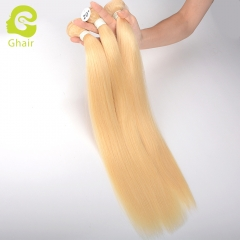 GHAIR Celebrity hair collection 1 bundle straight 613# blonde cuticle aligned single donor hair