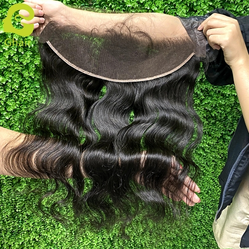 9A+ 13x4 HD lace frontal 1B# body wave with pre-plucked baby hair