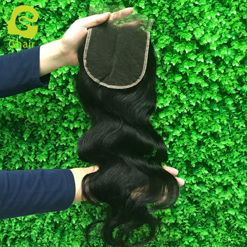 9A+ 4x4 HD lace closure 1B# body wave with pre-plucked baby hair