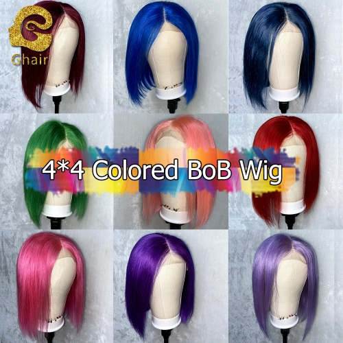4*4 613# 1B/613# Blonde Custom BOB Wig Straight