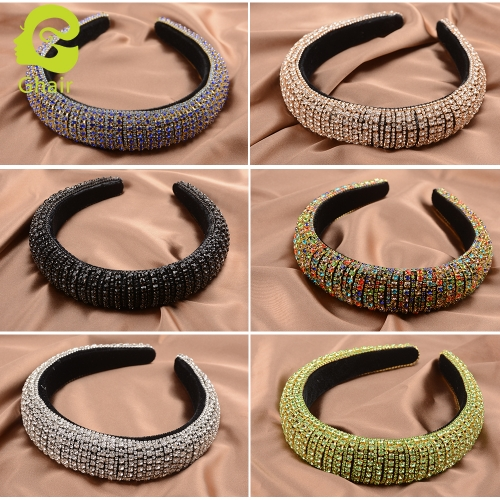 Ghair Wholesale Fashion 160*150*30mm Hair Band Accessories Blink Blink Crystal Hair Queen Series Headband For Girls